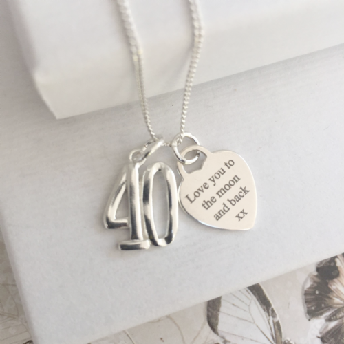40th birthday gift for mum  - FREE ENGRAVING
